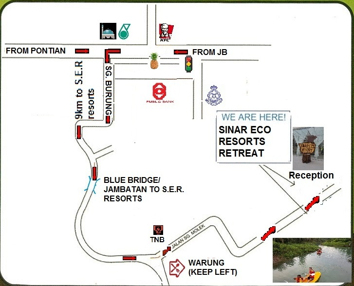 Sinar Eco Resort map