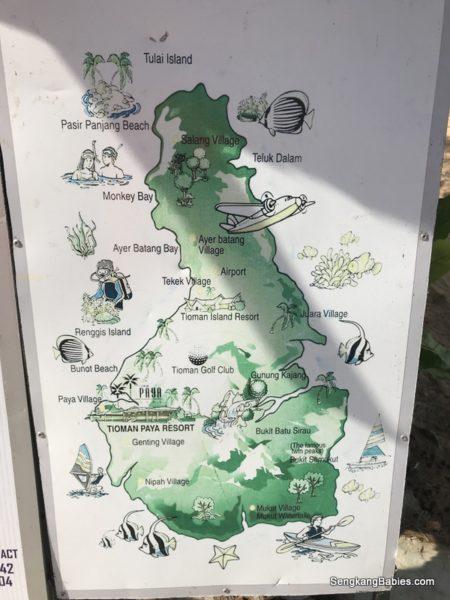 Tioman map