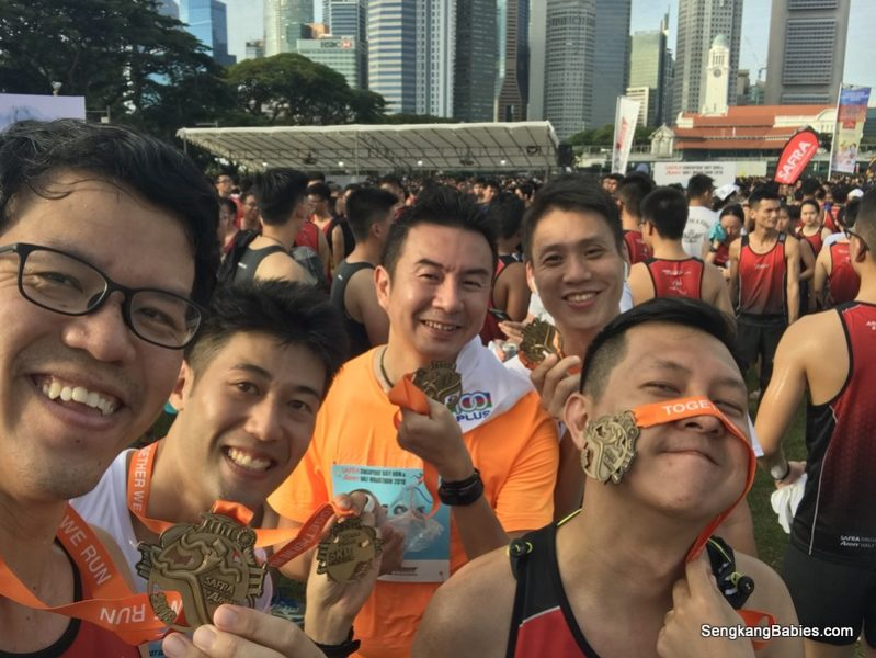 Safra Singapore Bay Run with Dads