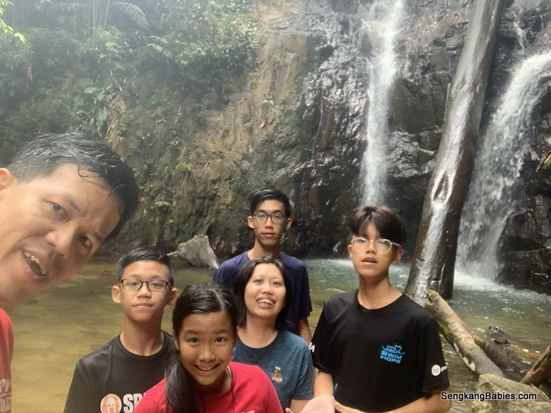 Johor Waterfalls Pelepah hiking with family