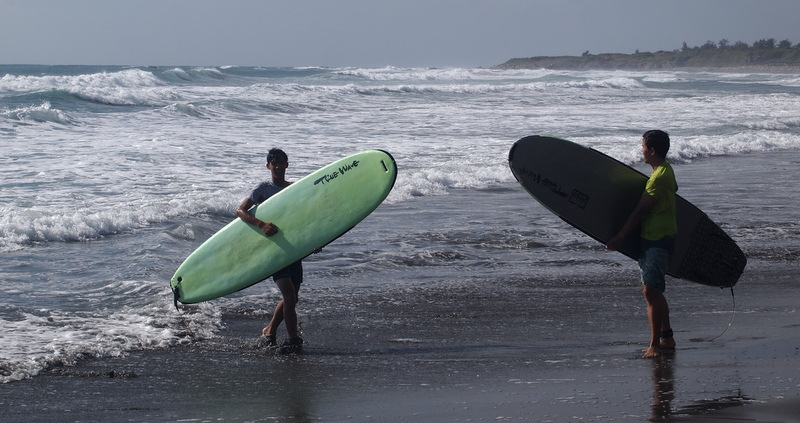 Surfing at Dulan